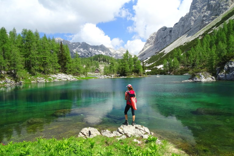 The Double Lake, Triglav Lakes, Julian Alps, Slovenia