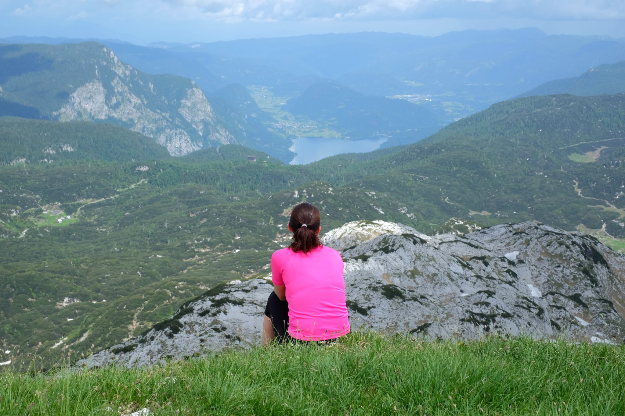 View over Lake Bohinj from Mt. Bogatin, Triglav National Park