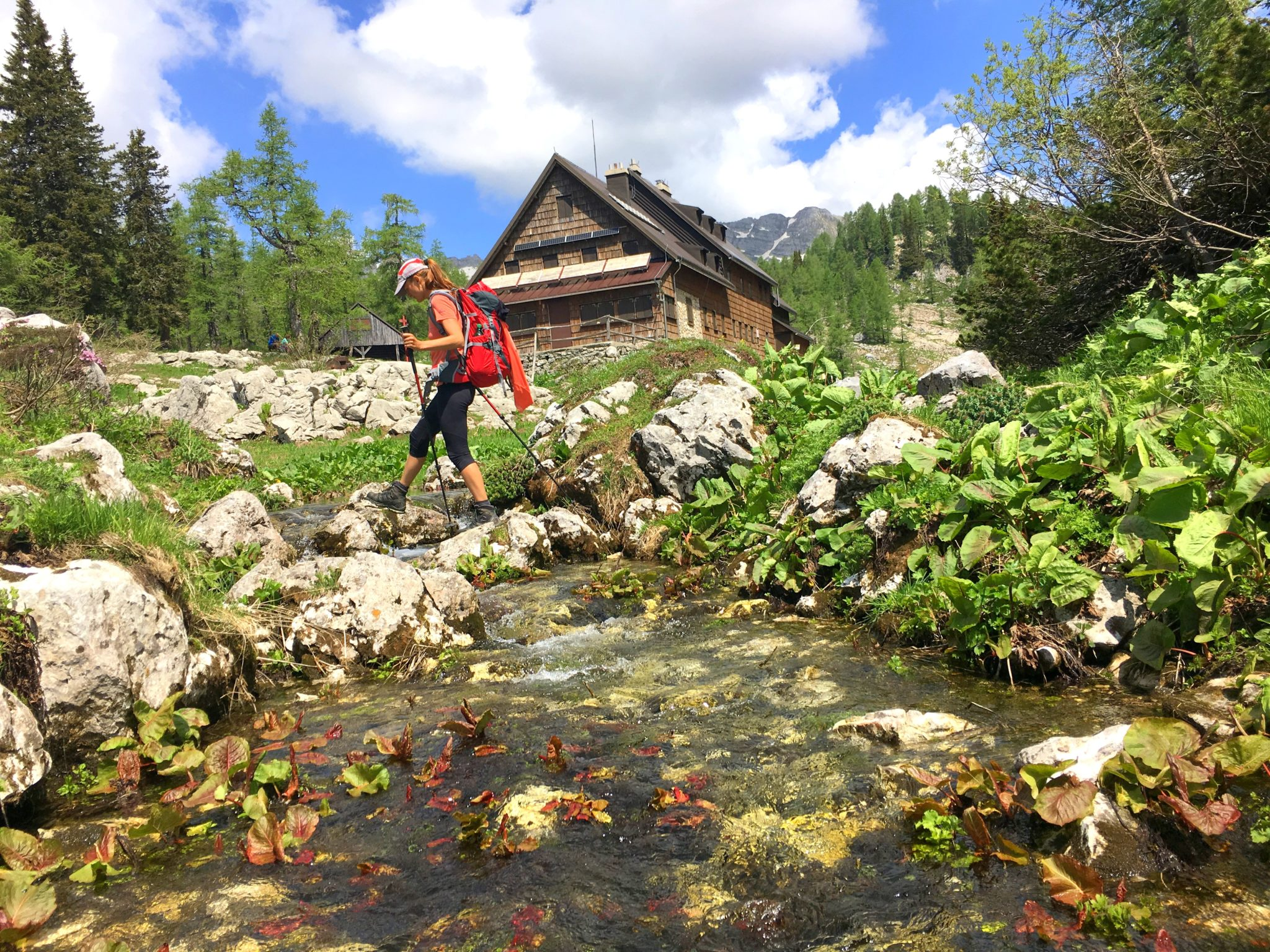 By the hut by the Double Lake, Triglav Lakes