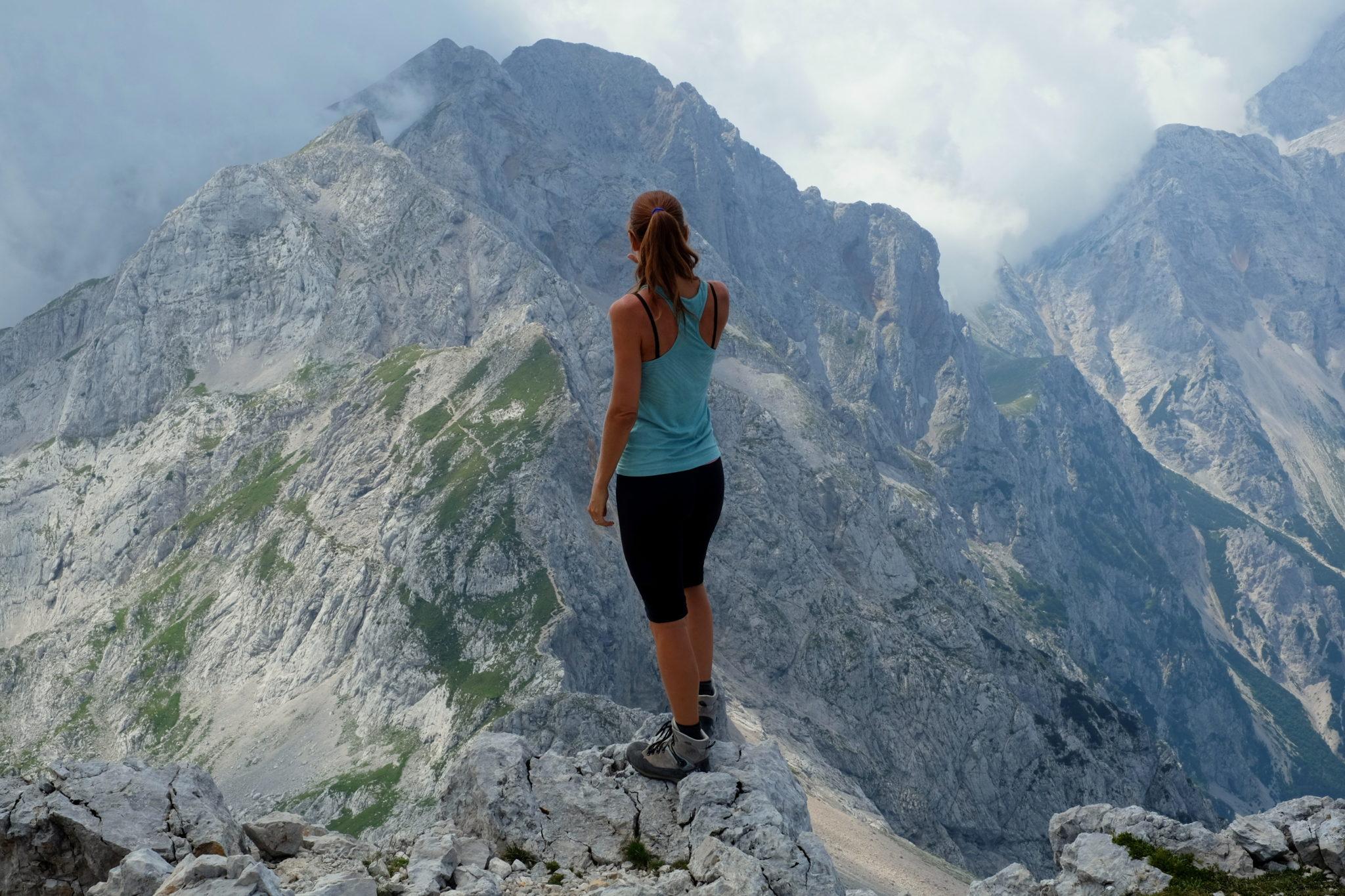 At the top of Mt. Ojstrica, Kamnik-Savinja Alps, Slovenia