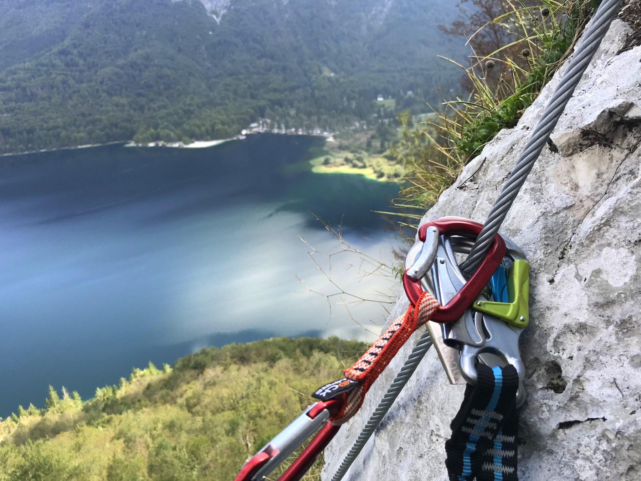 Climbing gear for a via ferrata