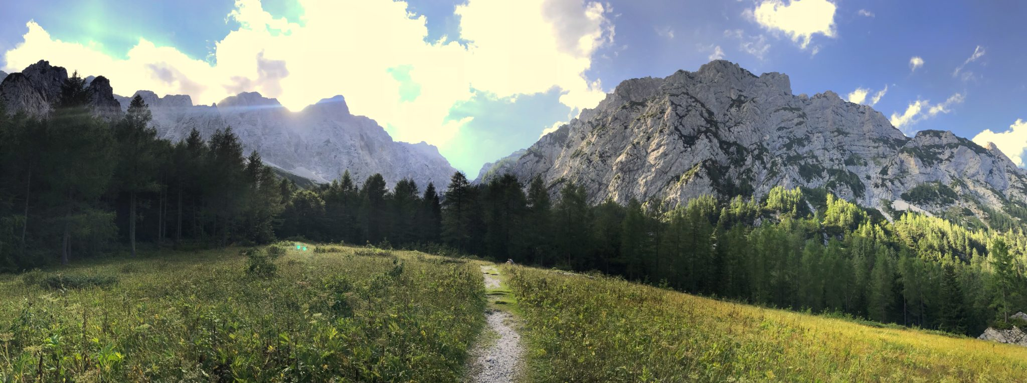 Hiking above Logat Valley, the Kamnik-Savinja Alps