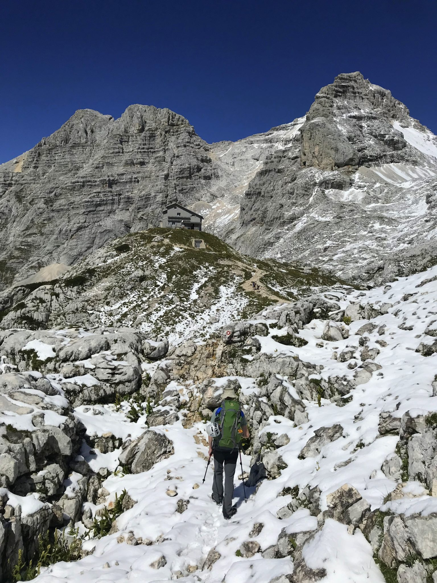 Hiking to the Pogačnik Hut in the Julian Alps, Triglav National Park, Slovenia