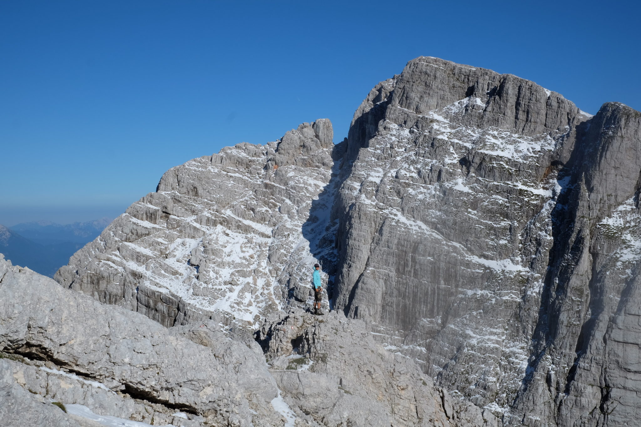 At the top of Mt. Križ, Stenar behind, Julian Alps, Slovenia