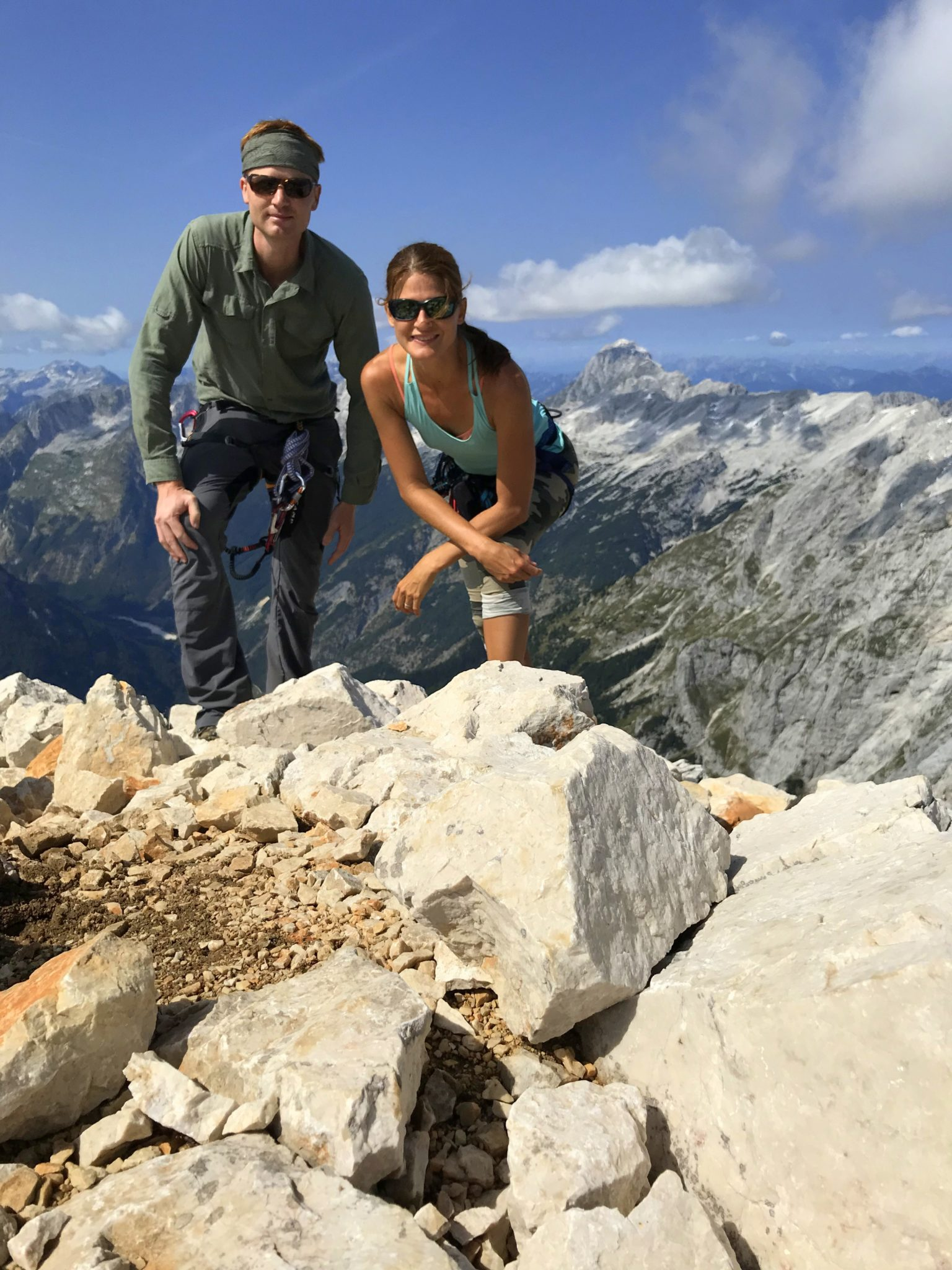 At the top of Mt. Razor, Julian Alps, Slovenia