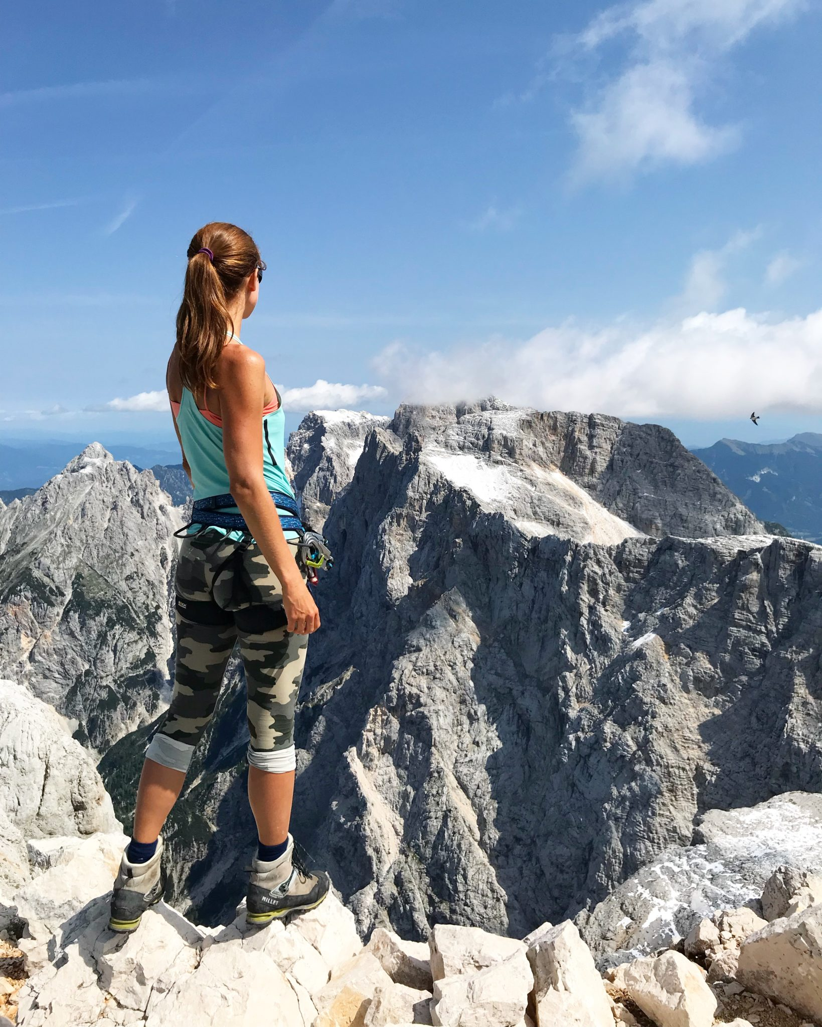 Breathtaking views from Mt. Razor of Mt. Škrlatica, Julian Alps, Slovenia