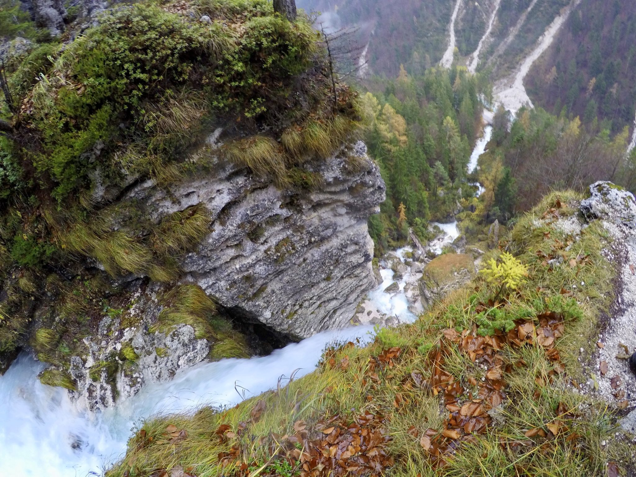Peričnik Waterfall in the fall, Triglav National Park, Vrata Valley, Slovenia
