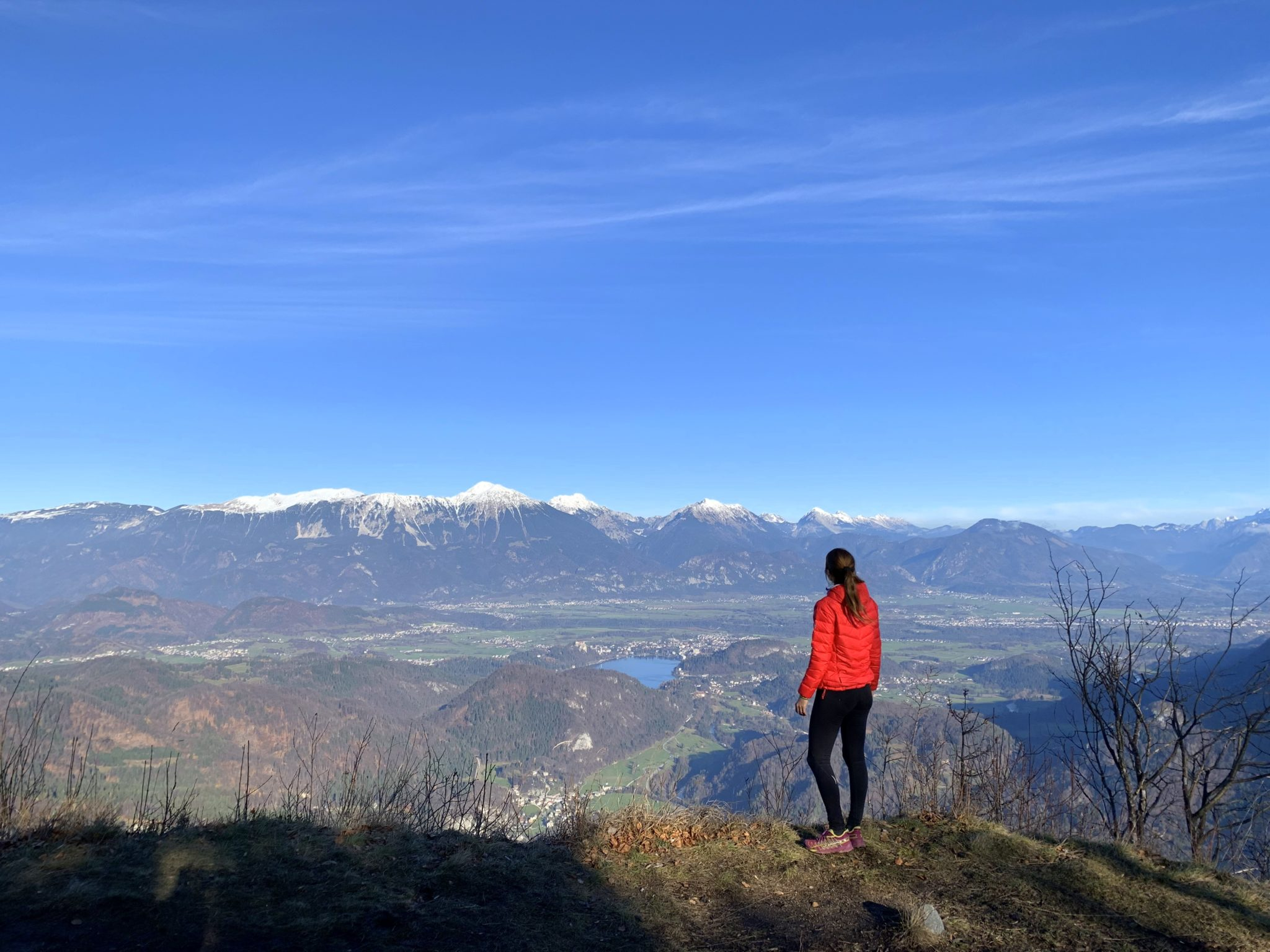 Hiking above Lake Bled, best view of Lake Bled