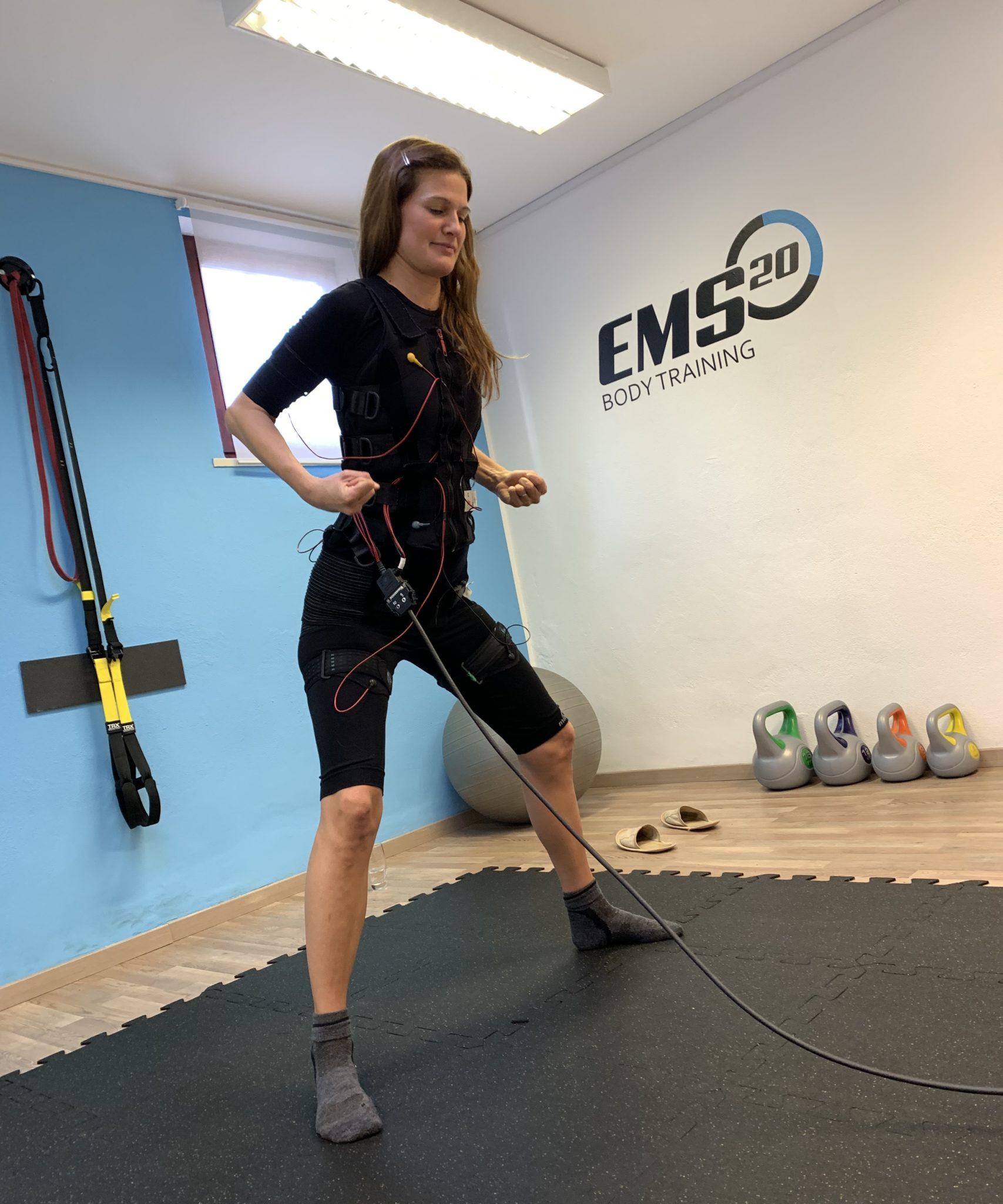 Doing a bodytech workout with EMS 20 Training, Slovenia, Ljubljana