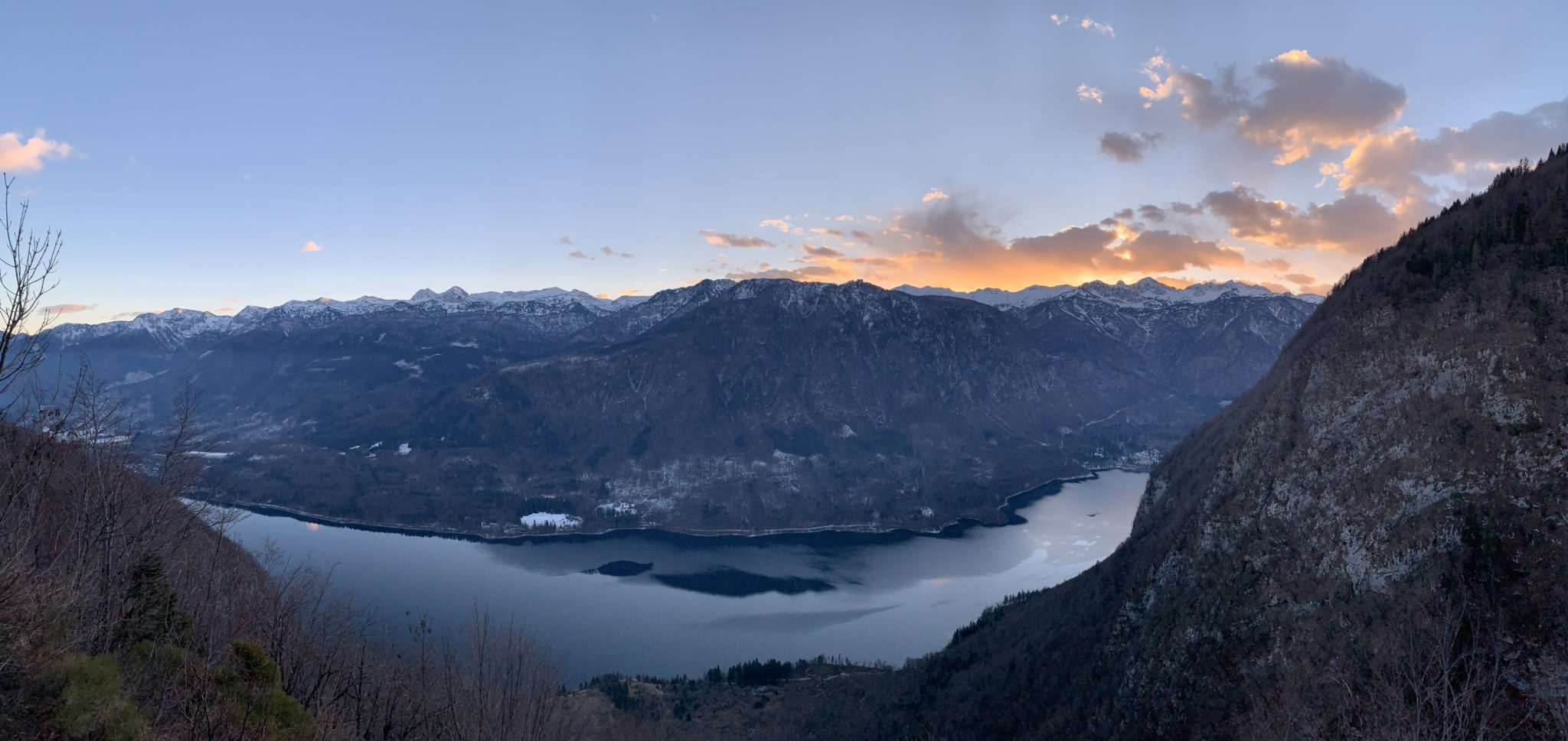 Lake Bohinj for sunset, Julian Alps, Slovenia