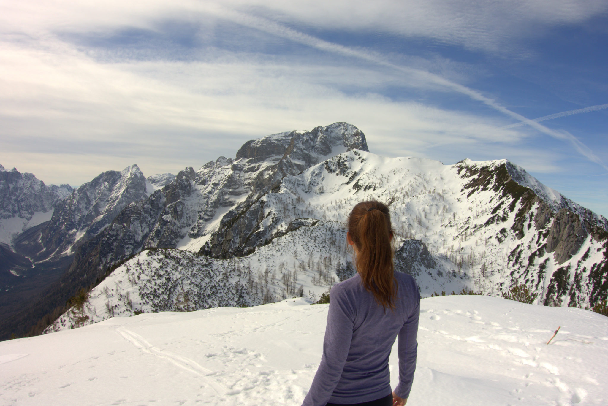 Soaking up cinematic views of the tallest peaks of the Julian Alps, Slovenia